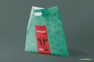 free plastic bag mockup psd