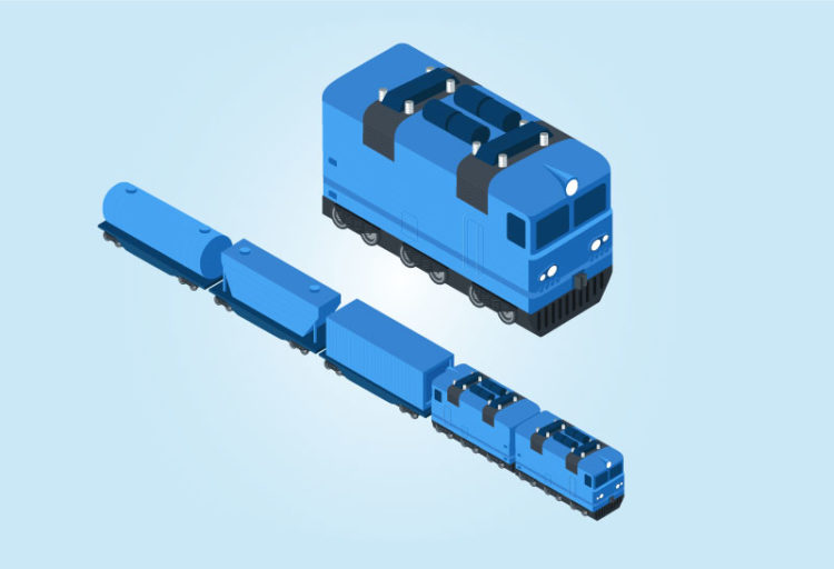 cargo train illustration free vector