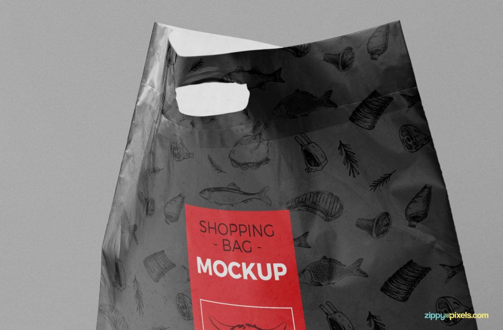 plastic bag mockup free