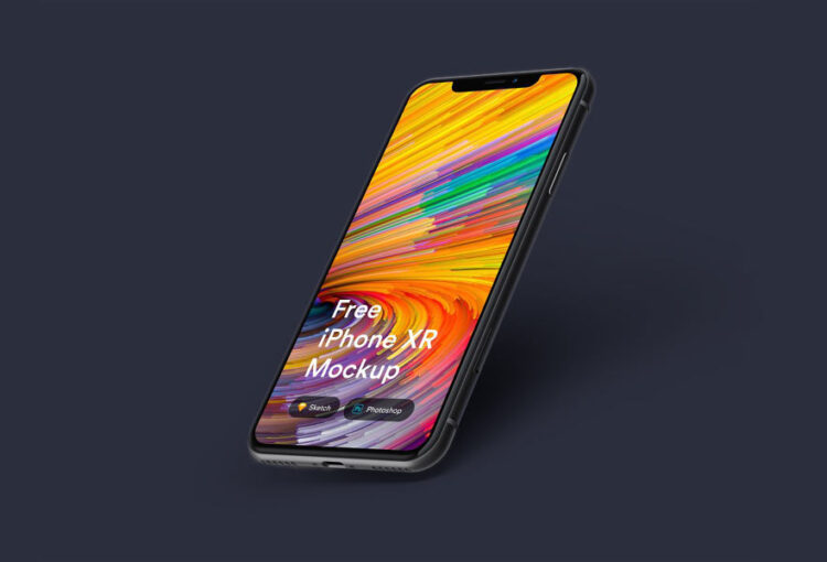 iPhone Xr free mockup download apple mock up