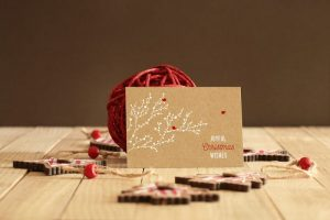 Christmas new year mockup posdtcard giftcad free