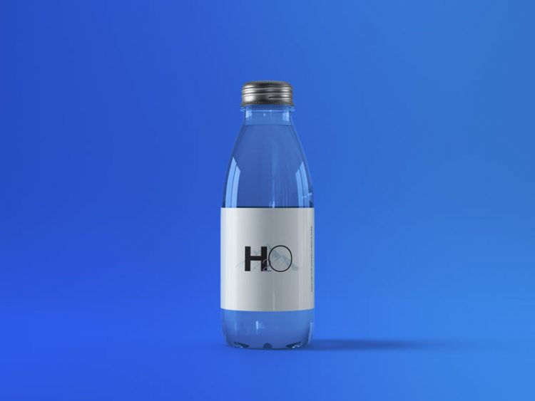 bottle mockup free metal cap glass download